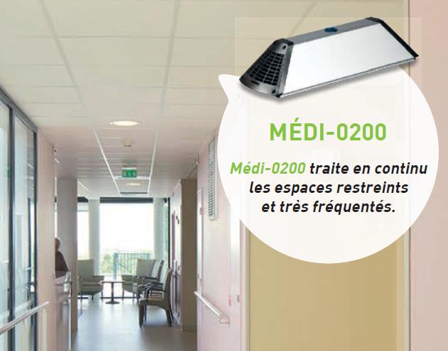Image produit 3 de Purificateur d'air et surfaces Médi-0200